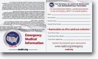 NAABT - Emergency Contact Wallet Card